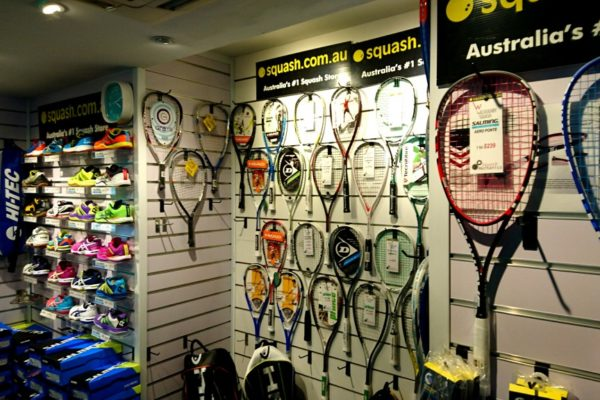 Pro Shop, Willoughby Squash Gear, Sydney squash shop