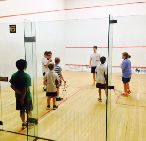 Sports, juniors playing squash, Squash, Willoughby
